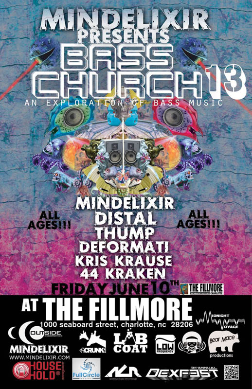 Mindelixir Presents Bass Church 13