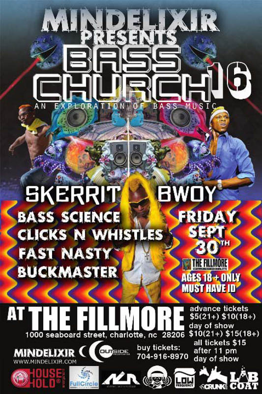 Mindelixir Presents Bass Church 16
