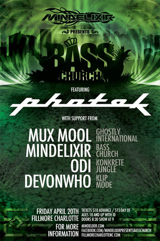 2012, Bass Church 23, Friday April 20, Photek