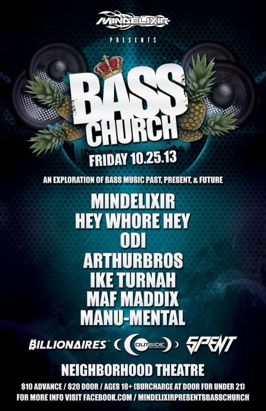 Mindelixir Presents Bass Church 2013 October