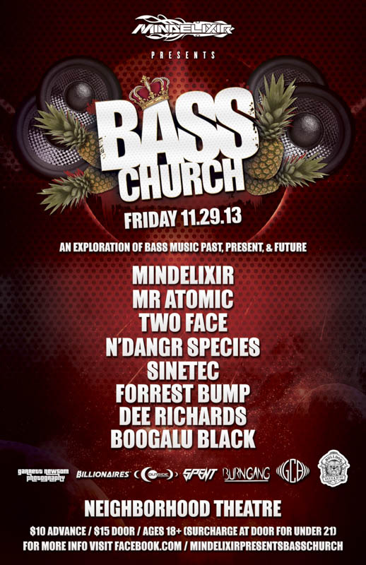 Mindelixir Presents Bass Church 2013 November