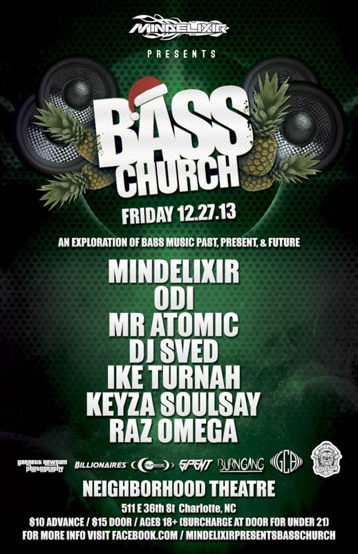 Mindelixir Presents Bass Church 2013 December