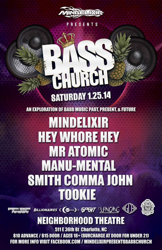 Mindelixir Presents Bass Church 2014 January