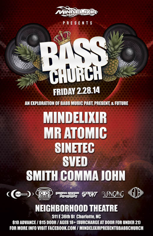 Mindelixir Presents Bass Church 2014 February