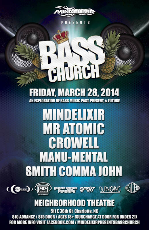 Mindelixir Presents Bass Church 2014 March