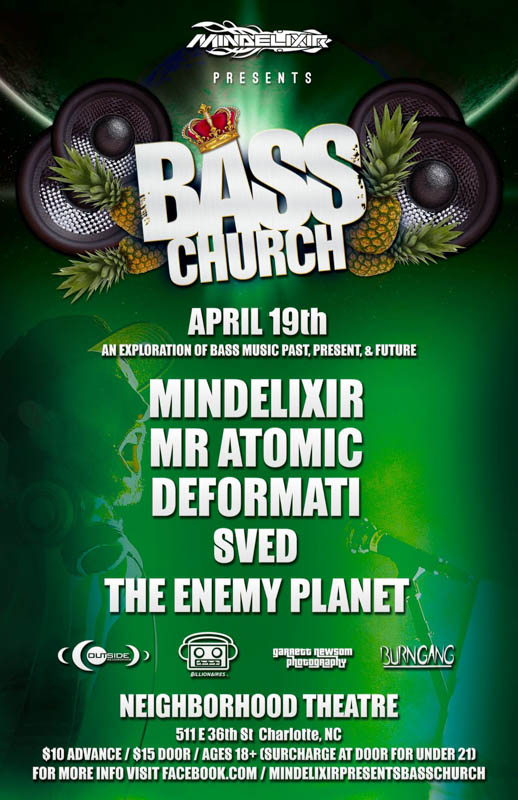 Mindelixir Presents Bass Church 2014 April